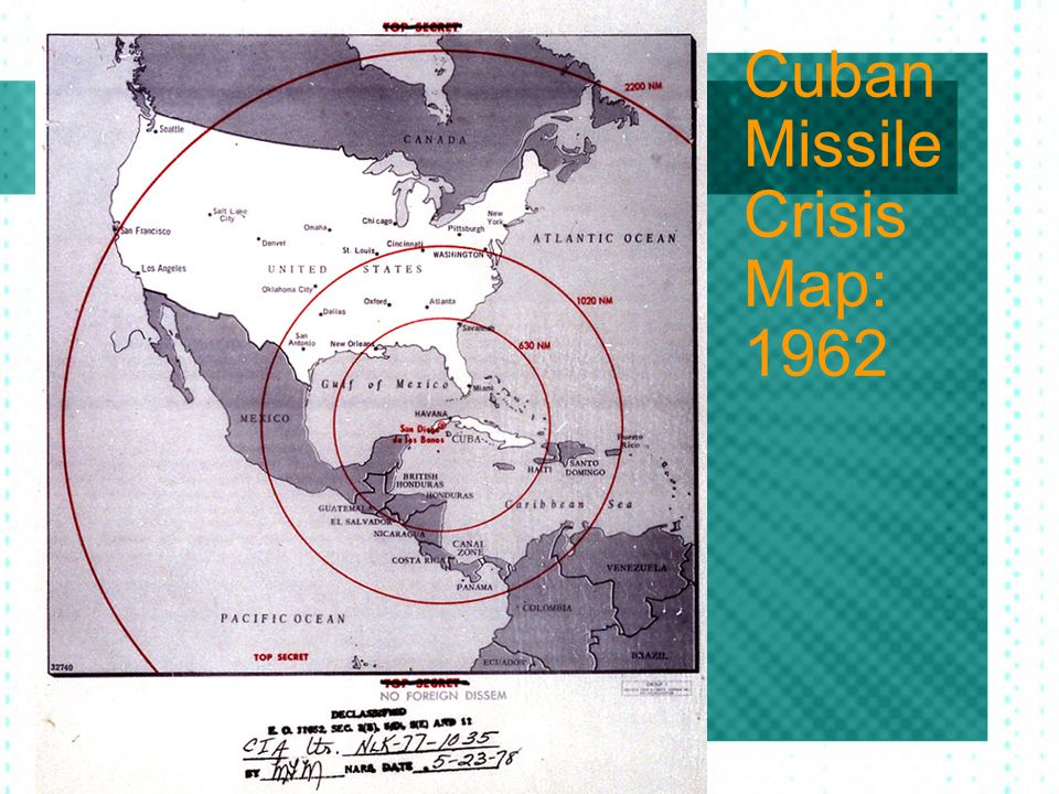 Cuban Missile Crisis Map: 1962