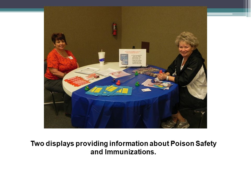 Two displays providing information about Poison Safety