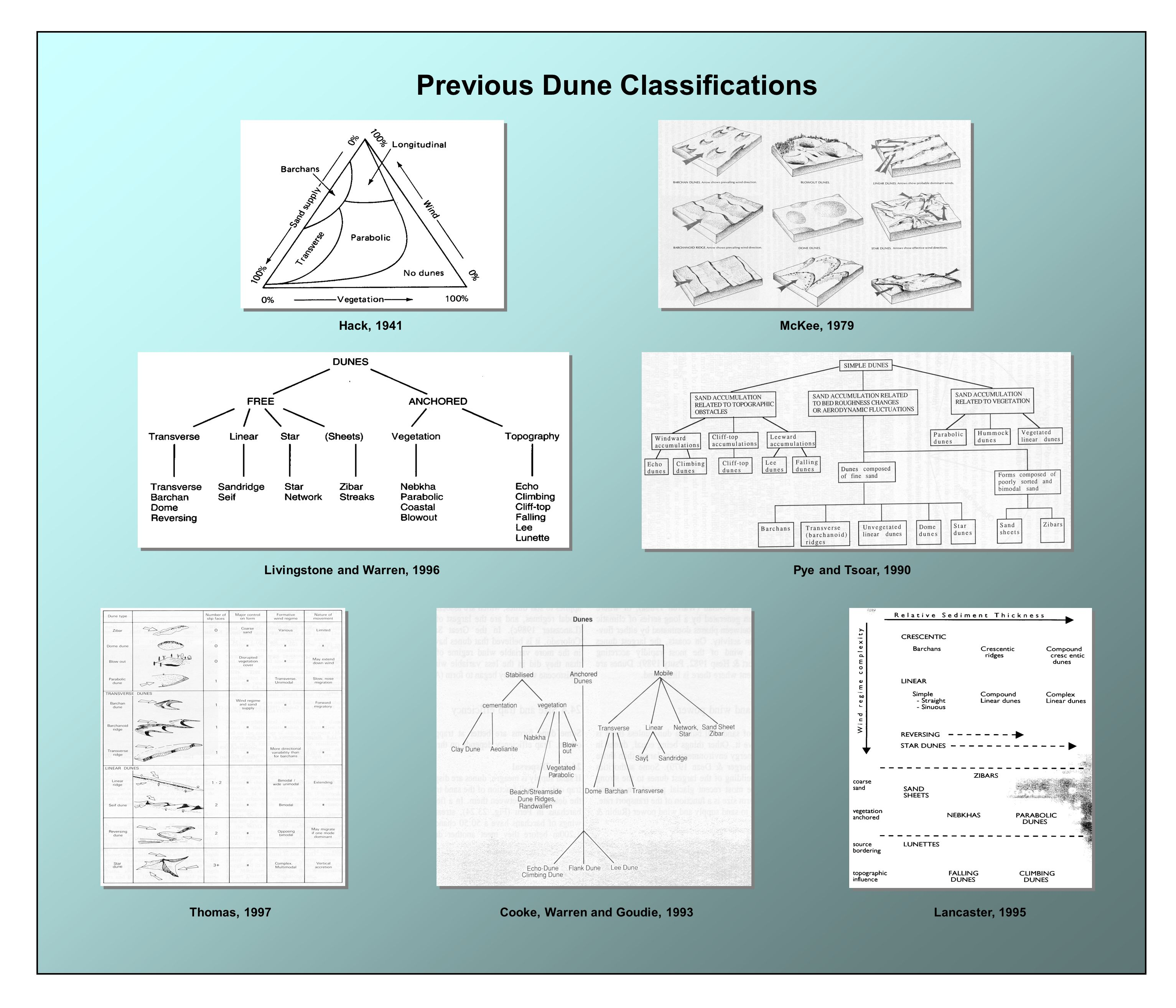 Previous Dune Classifications