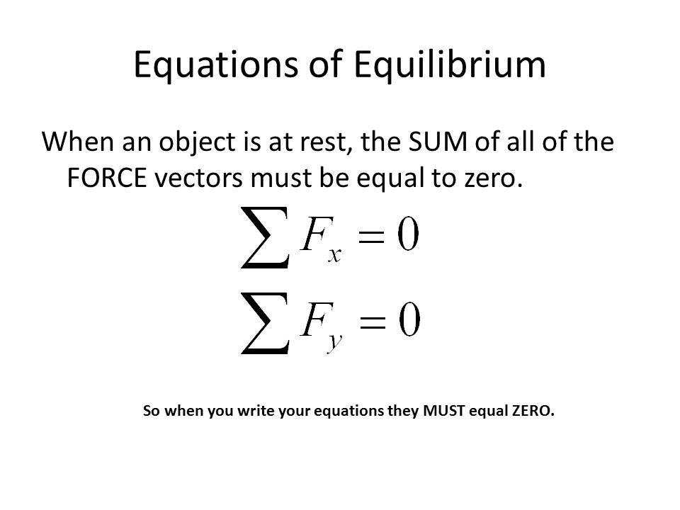 Equations of Equilibrium
