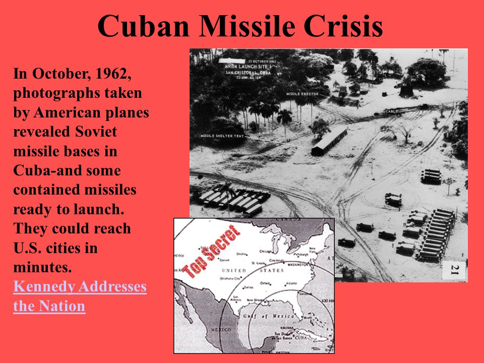 Cuban Missile Crisis In October, 1962, photographs taken