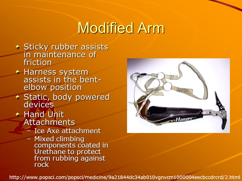 Modified Arm Sticky rubber assists in maintenance of friction