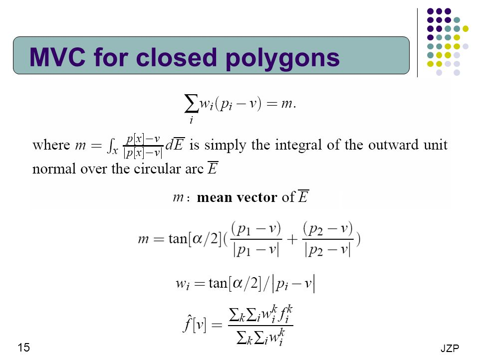 MVC for closed polygons