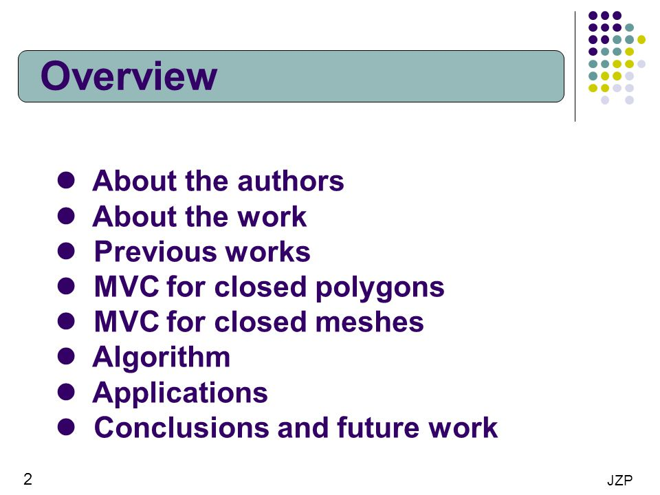Overview About the authors About the work Previous works