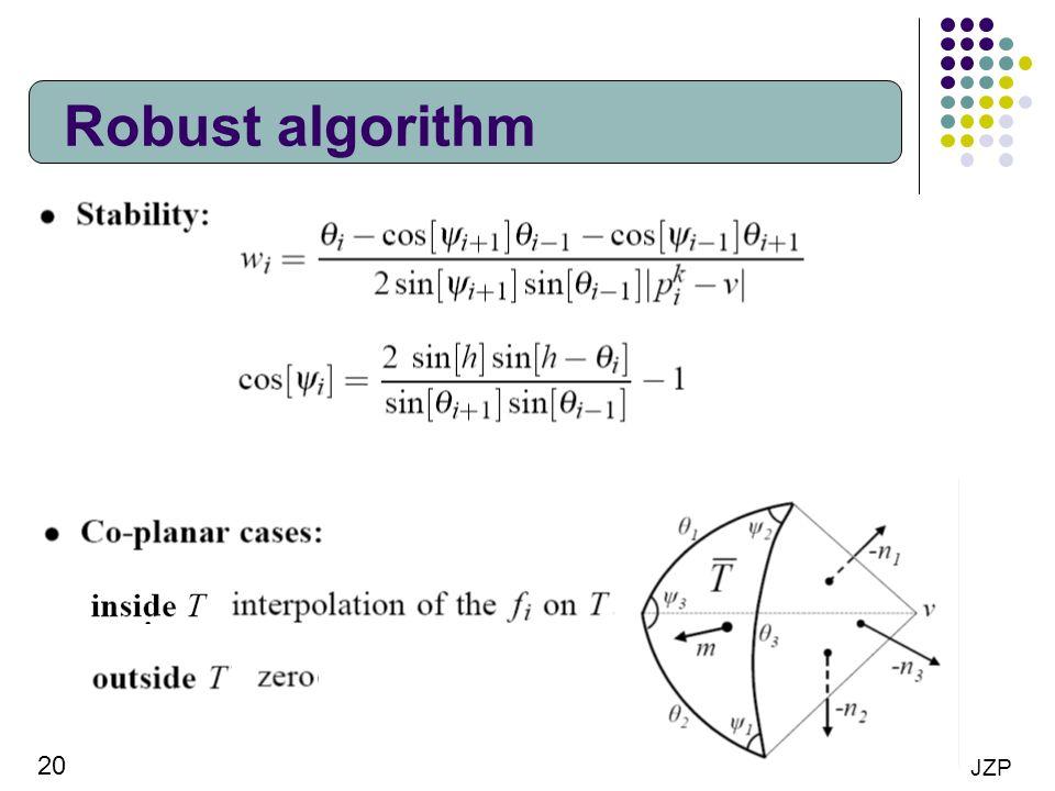 Robust algorithm