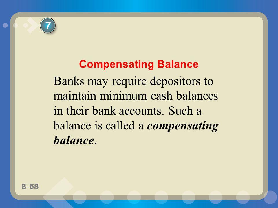 7 Compensating Balance.