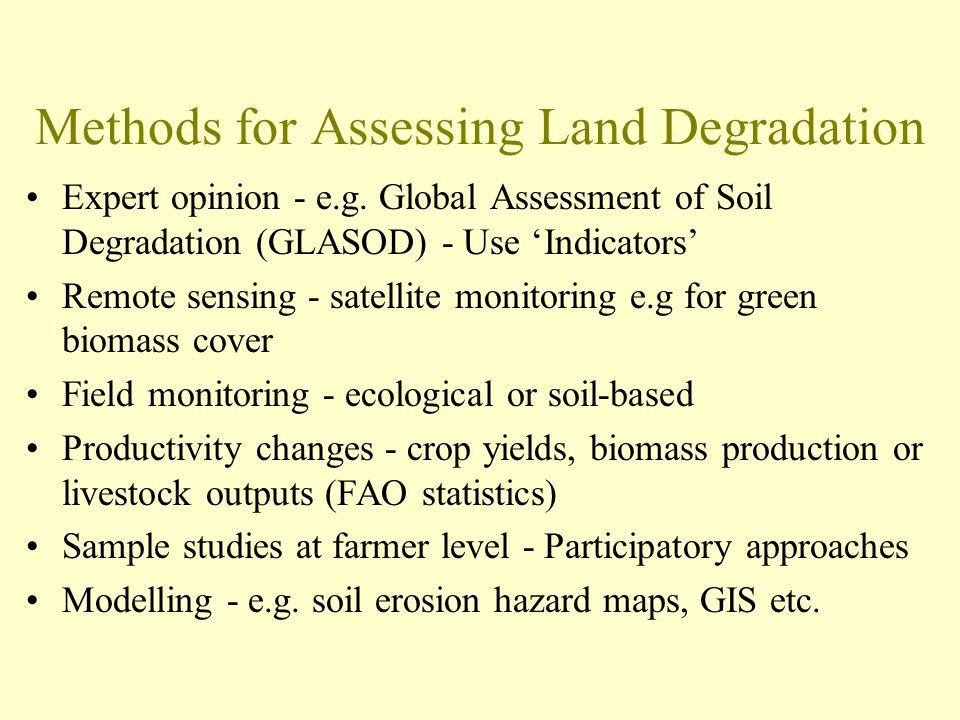 Methods for Assessing Land Degradation