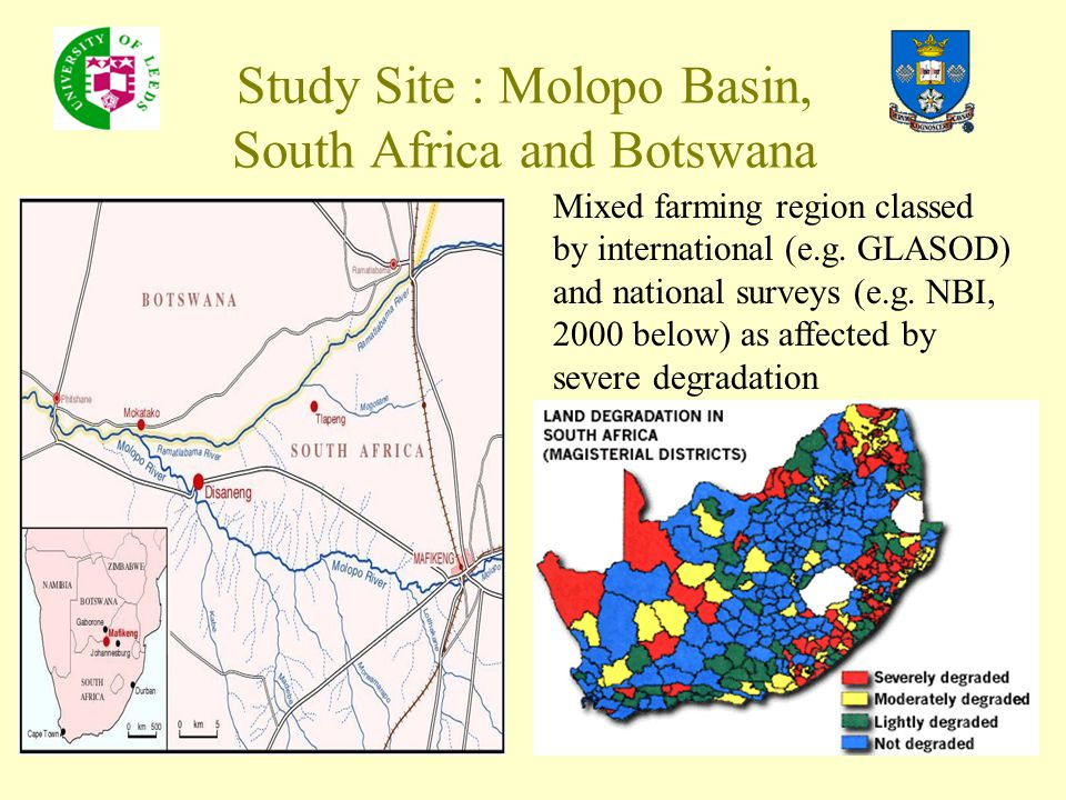 Study Site : Molopo Basin, South Africa and Botswana