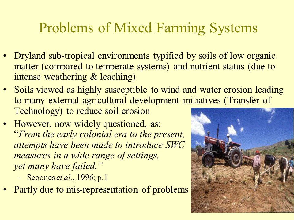 Problems of Mixed Farming Systems