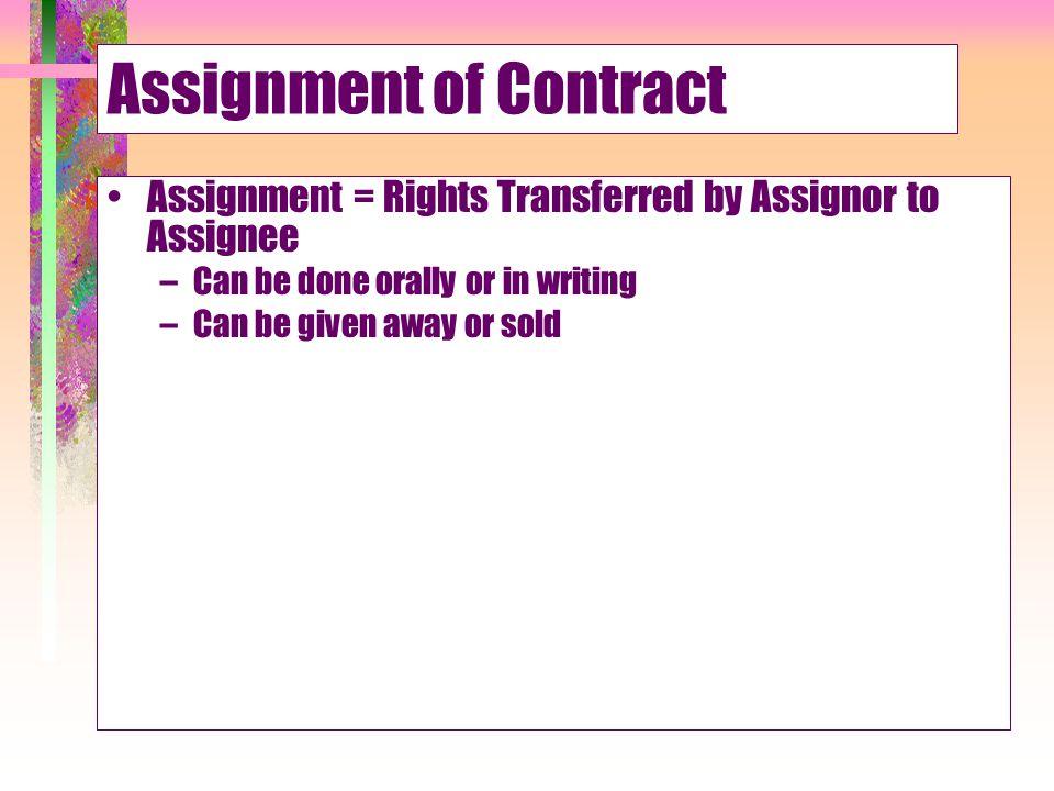 Third Parties' Contract Rights - Ppt Download
