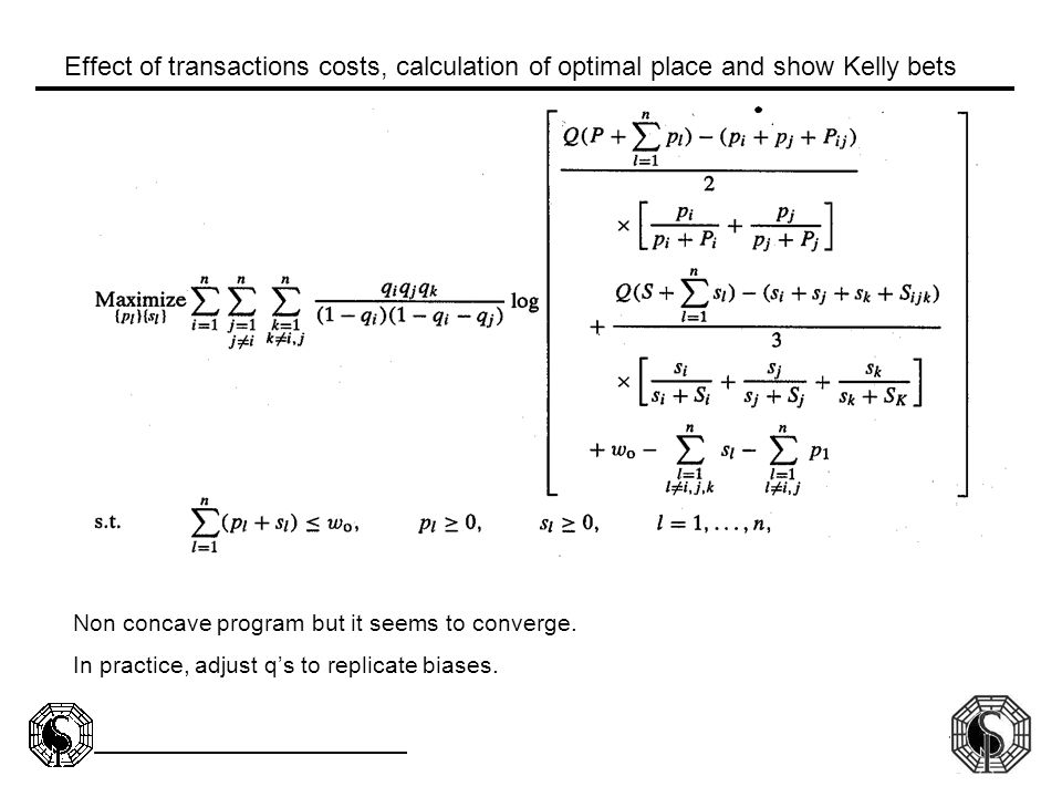 Effect of transactions costs, calculation of optimal place and show Kelly bets