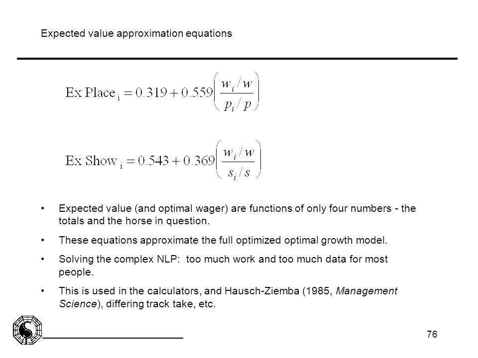 Expected value approximation equations