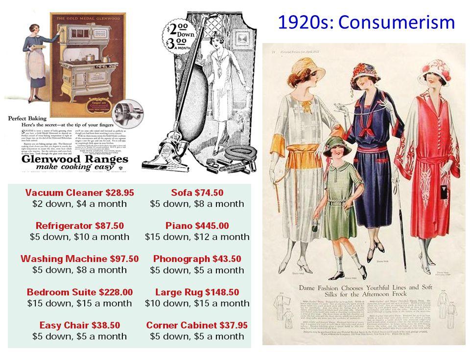 1920s: Consumerism
