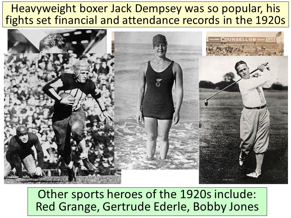 Heavyweight boxer Jack Dempsey was so popular, his fights set financial and attendance records in the 1920s
