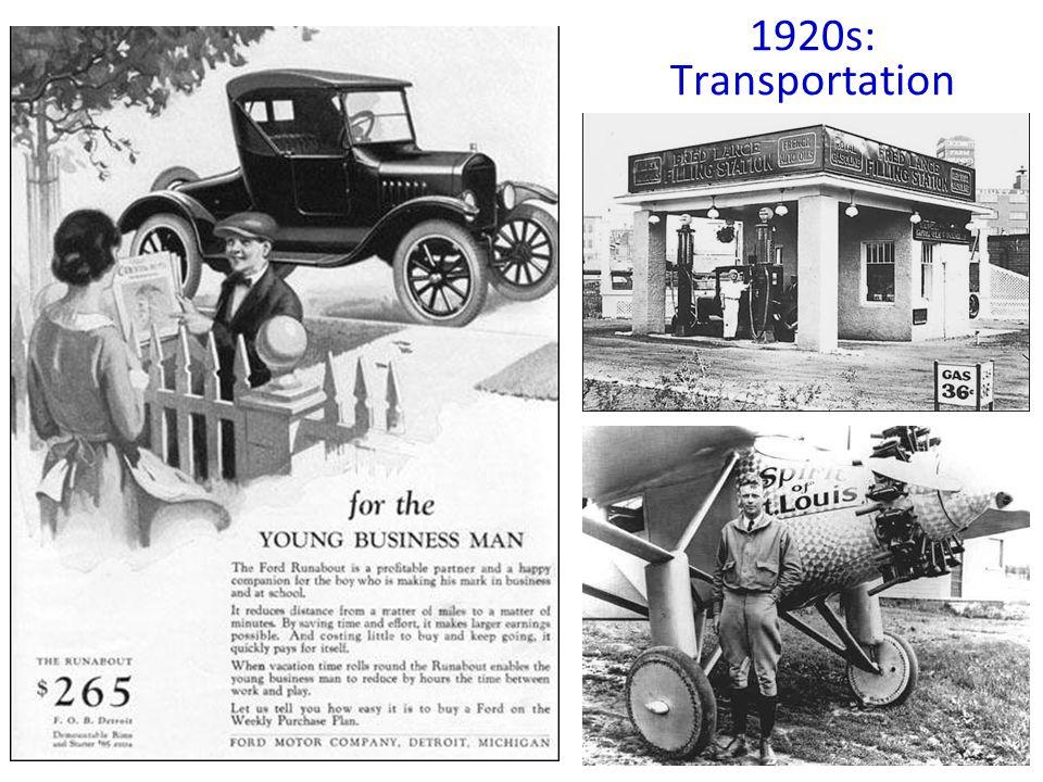 1920s: Transportation
