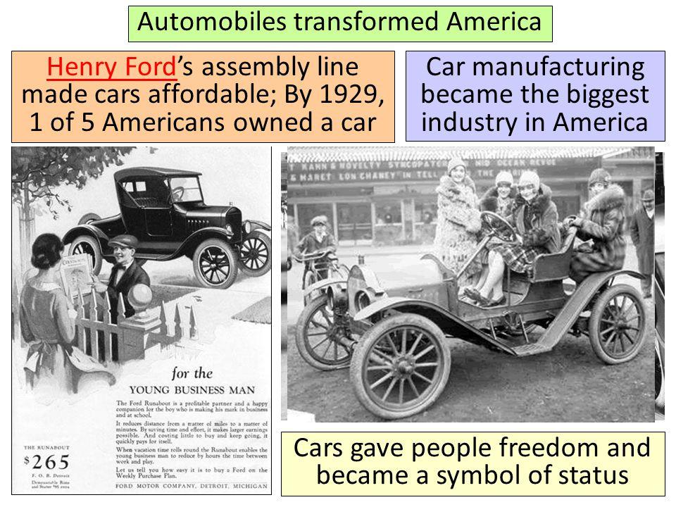 Automobiles transformed America