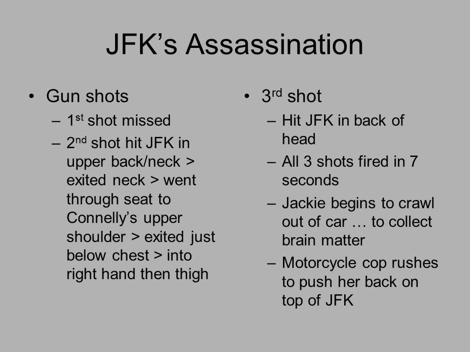 JFK's Assassination Gun shots 3rd shot 1st shot missed