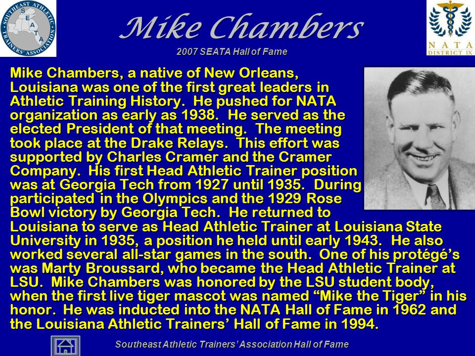 Southeast Athletic Trainers' Association Hall of Fame