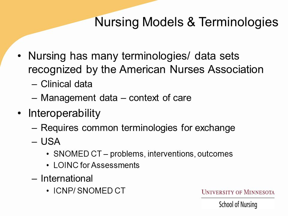 Nursing Models & Terminologies