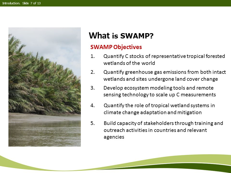 What is SWAMP SWAMP Objectives