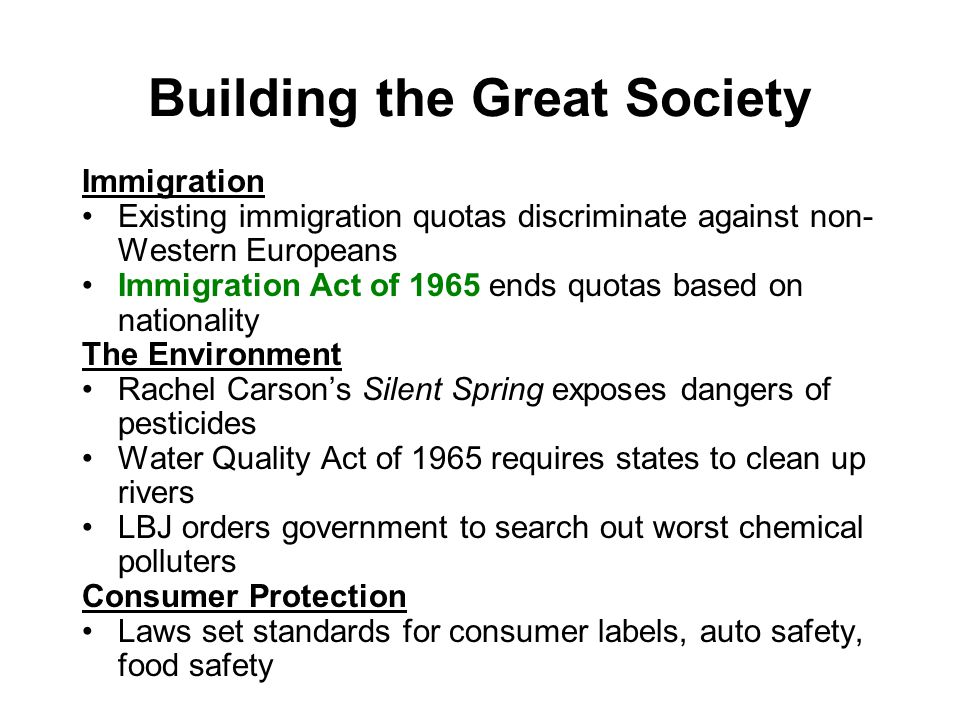 Building the Great Society