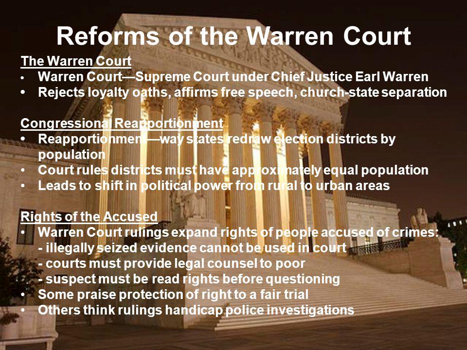 Reforms of the Warren Court