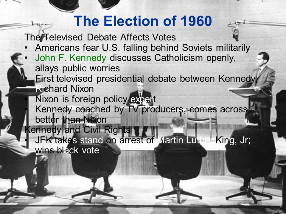 The Election of 1960 The Televised Debate Affects Votes