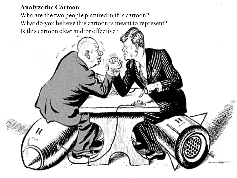 Analyze the Cartoon: Who are the two people pictured in this cartoon