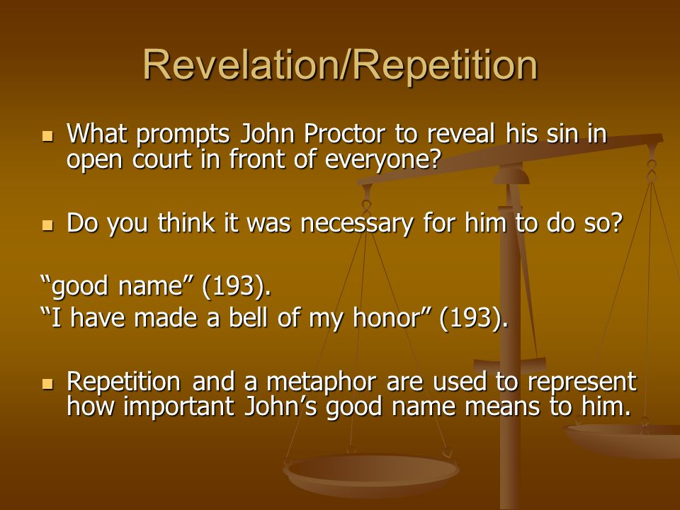 Revelation/Repetition