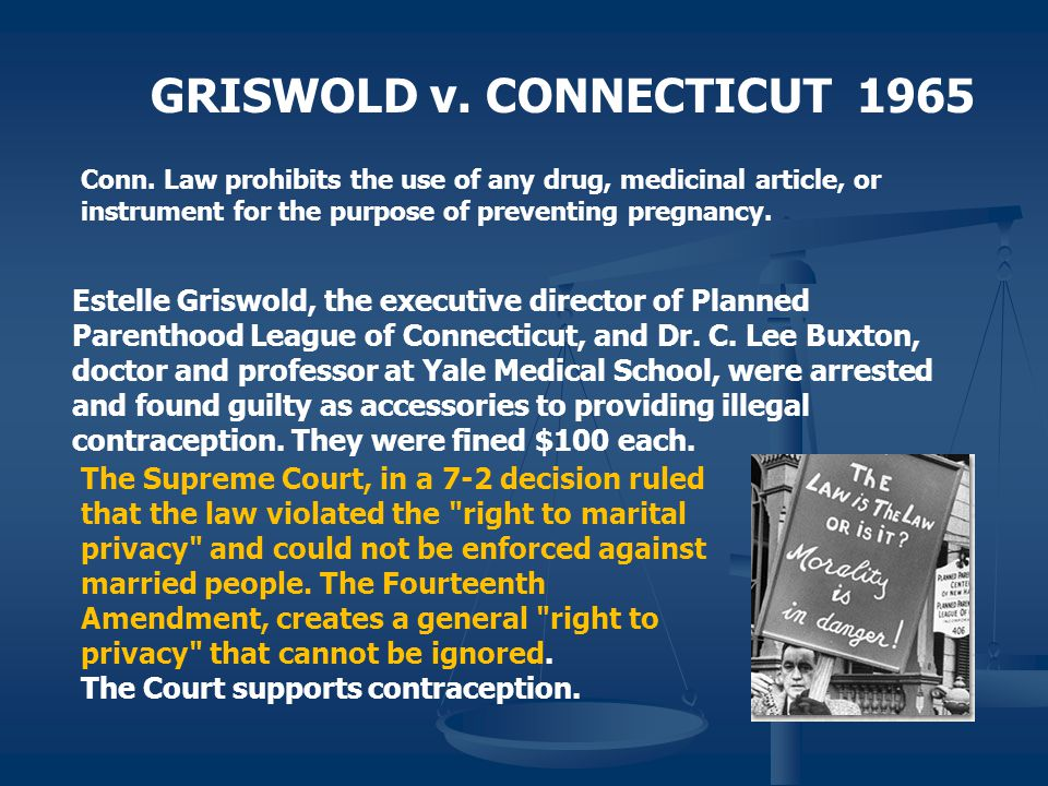 GRISWOLD v. CONNECTICUT 1965
