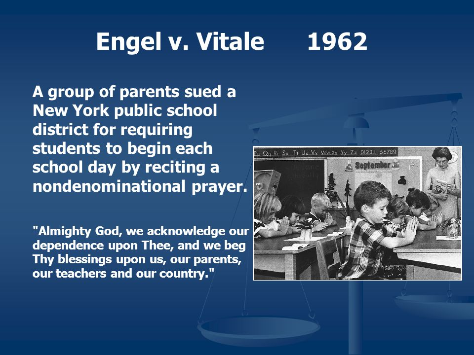 Engel v. Vitale 1962