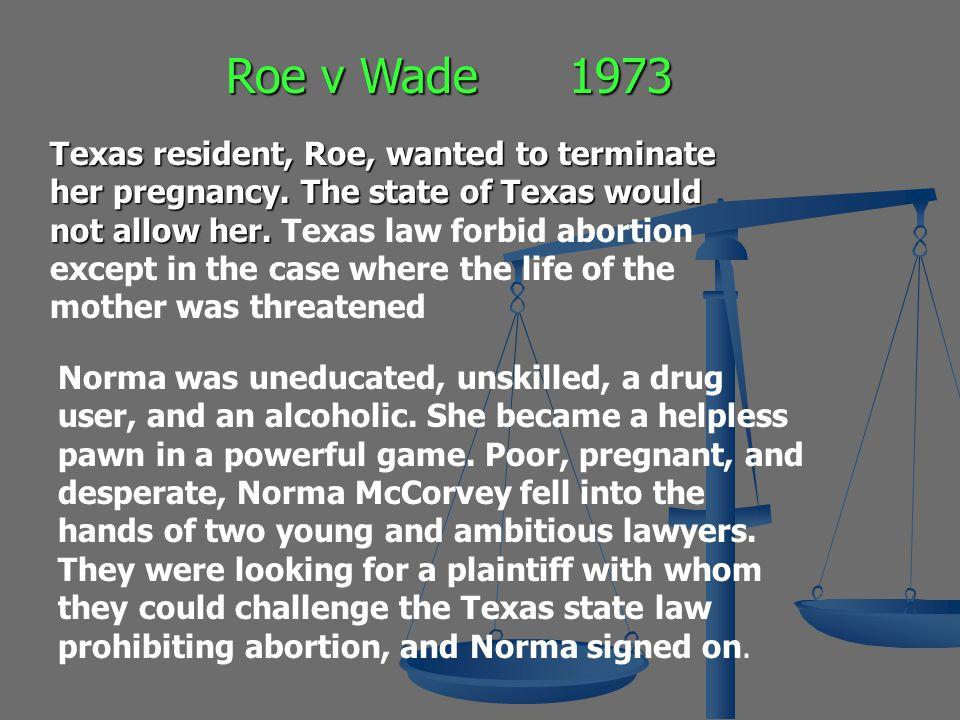 Roe v Wade 1973