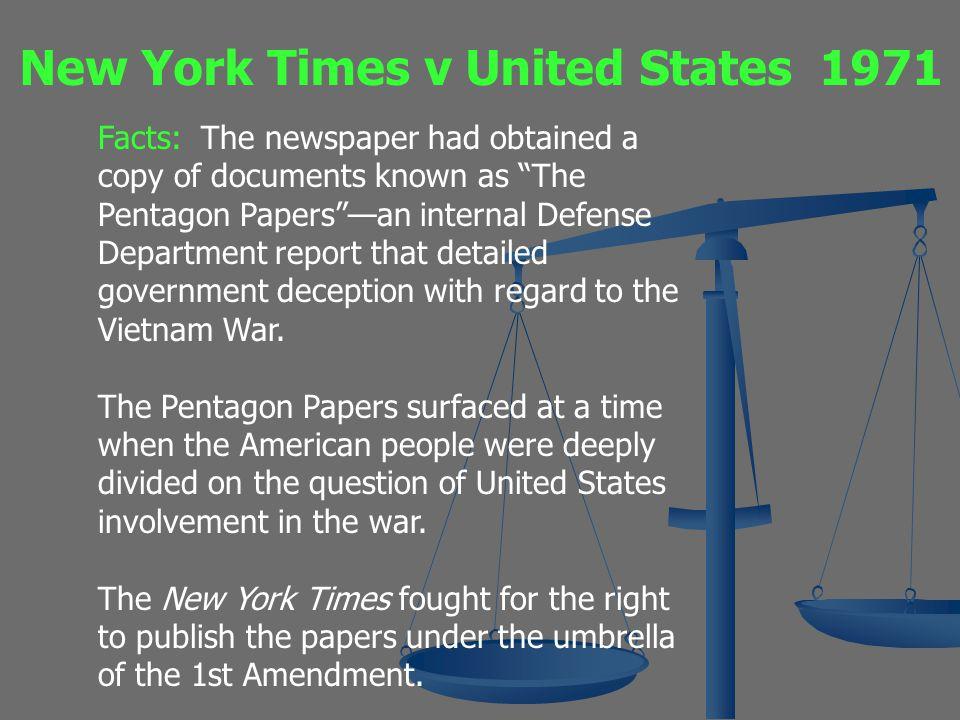 New York Times v United States 1971