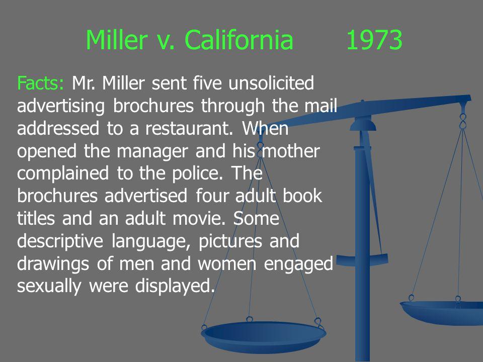 Miller v. California 1973