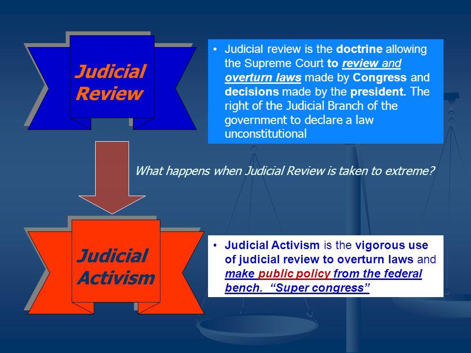 Judicial Review Judicial Activism