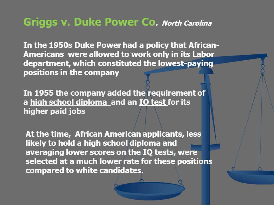griggs v duke power company