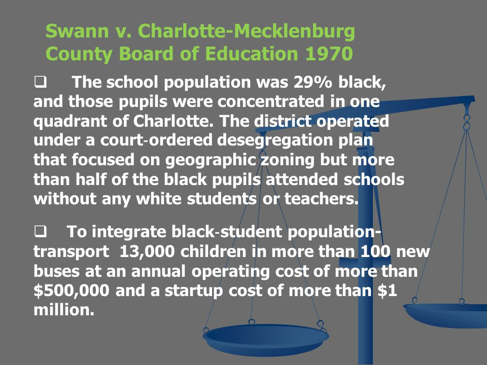 Swann v. Charlotte-Mecklenburg County Board of Education 1970