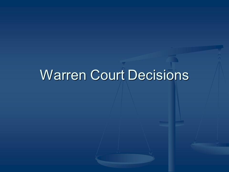 Warren Court Decisions