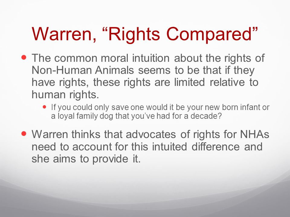 Warren, Rights Compared