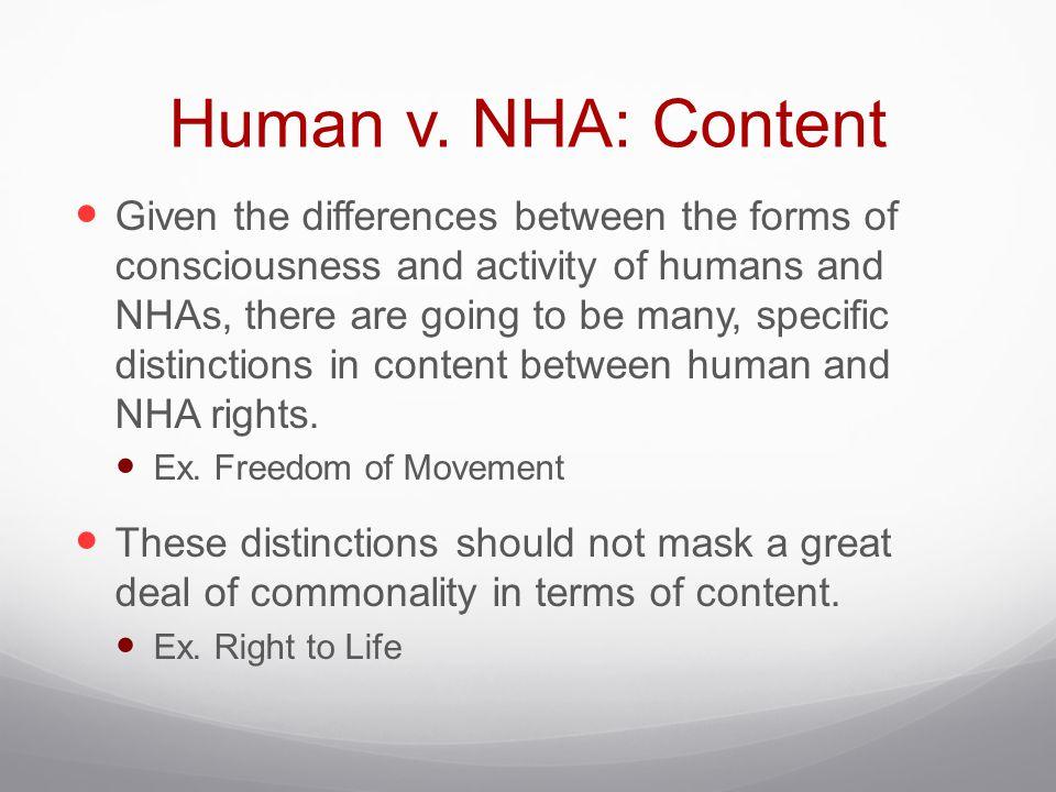Human v. NHA: Content