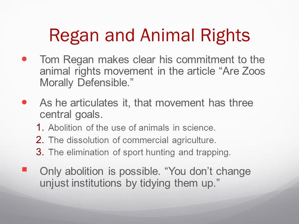 Regan and Animal Rights