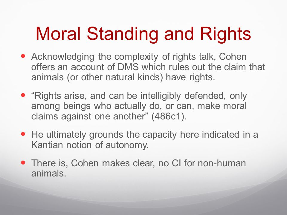 Moral Standing and Rights