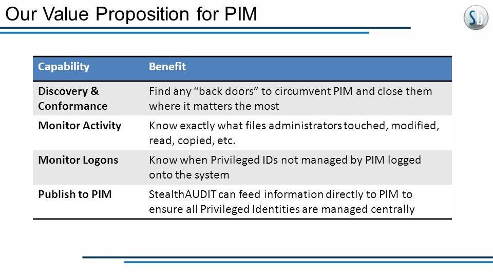 Our Value Proposition for PIM