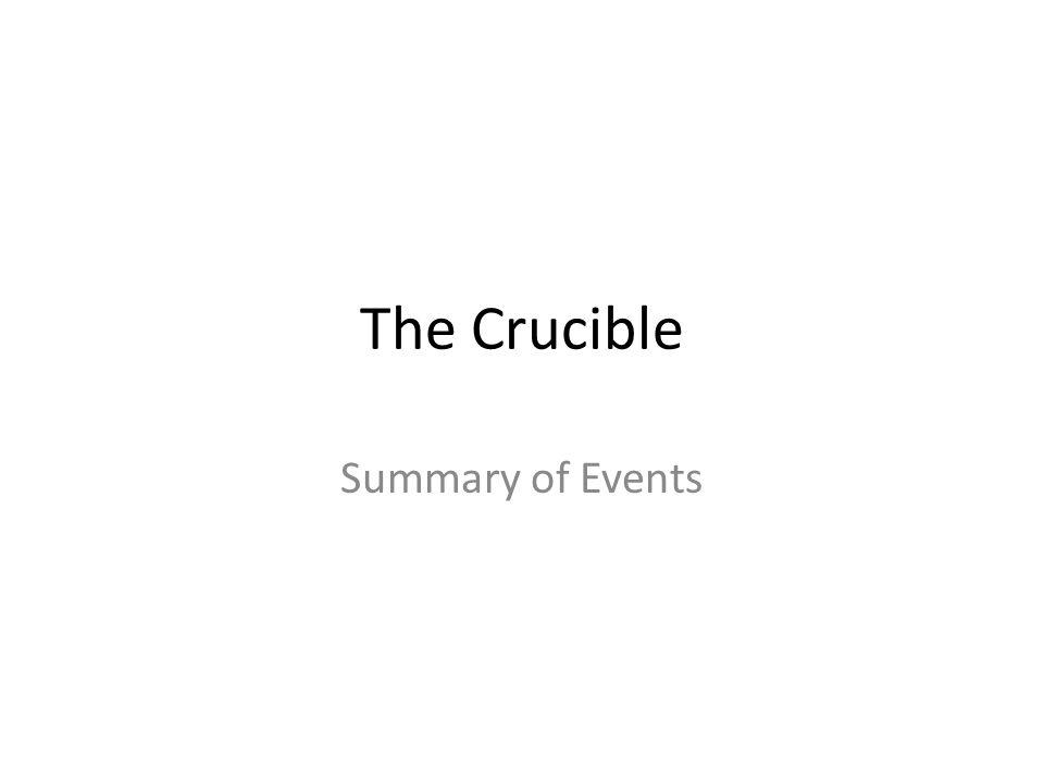 the crucible play summary