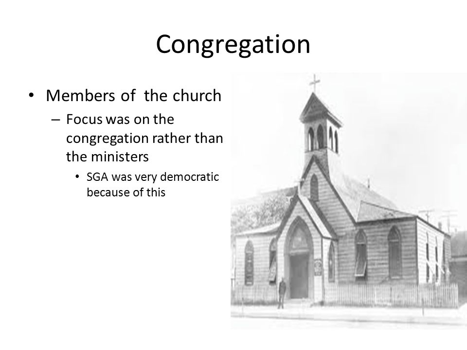 Congregation Members of the church