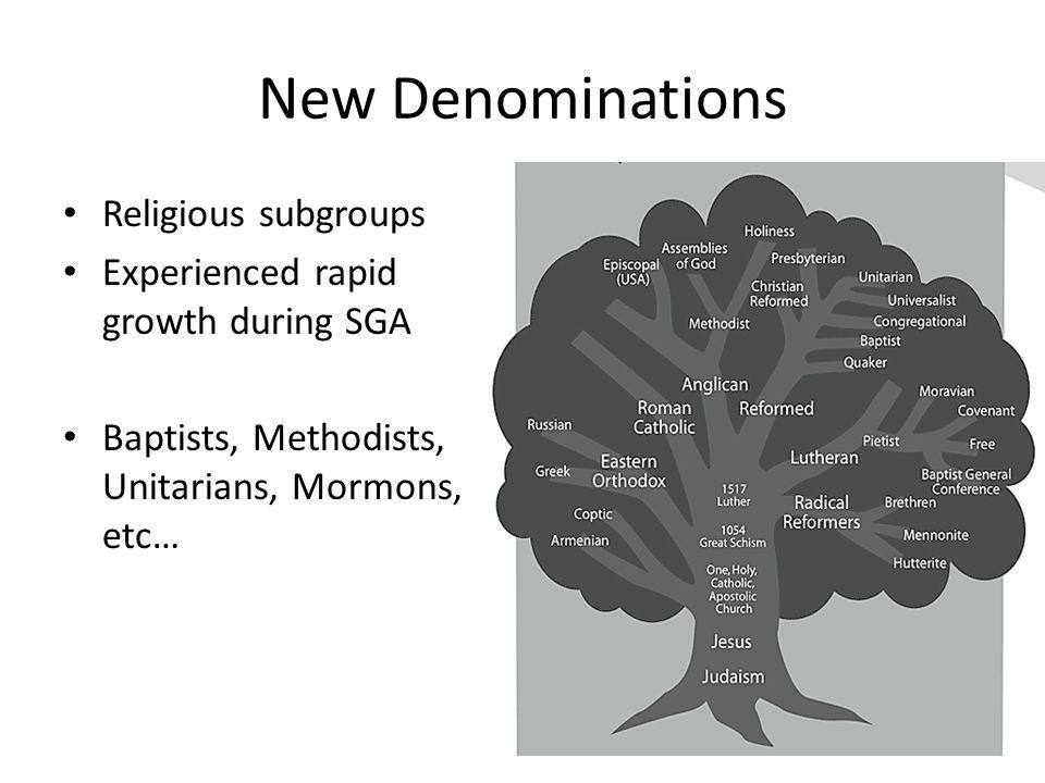 New Denominations Religious subgroups