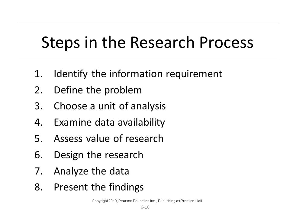 Steps in the Research Process