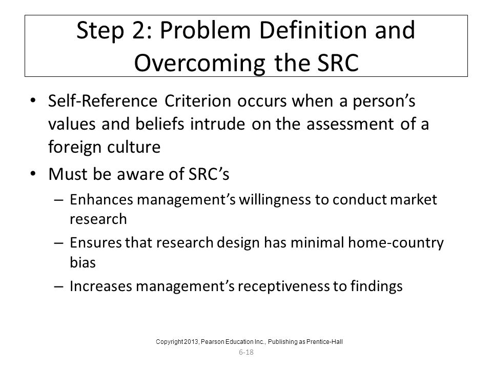 Step 2: Problem Definition and Overcoming the SRC