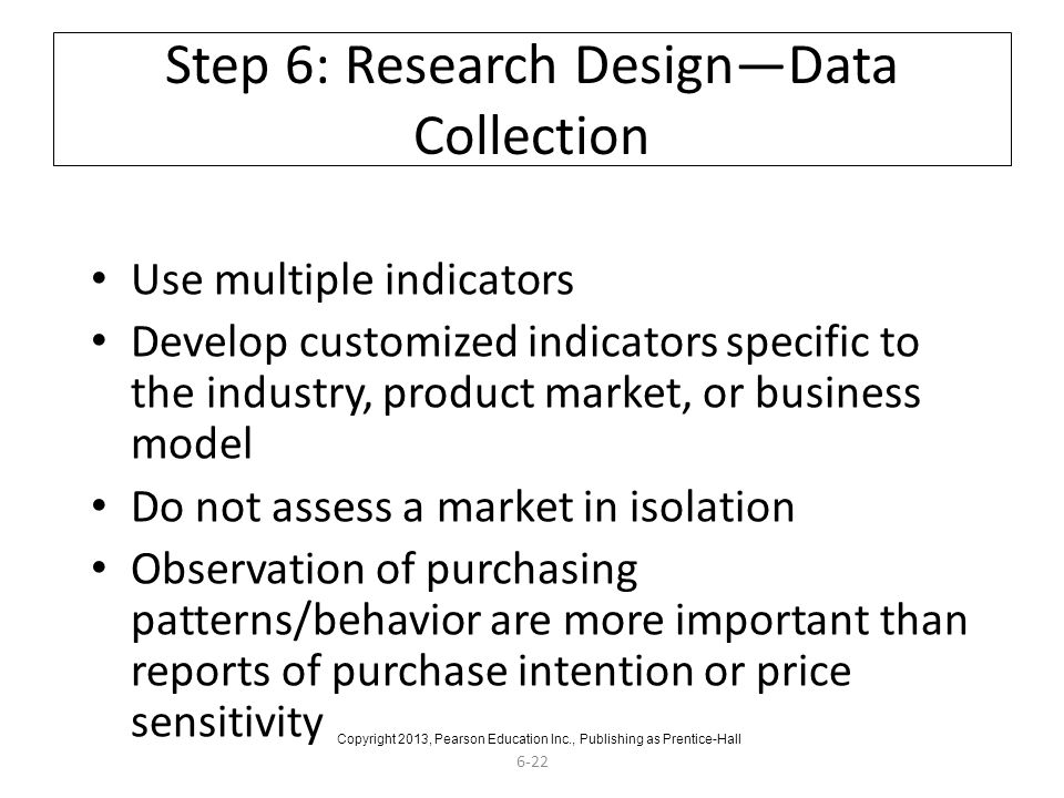 Step 6: Research Design—Data Collection