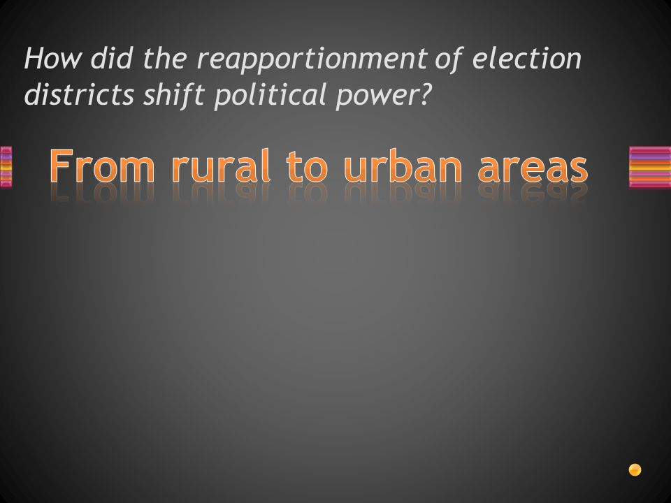 From rural to urban areas